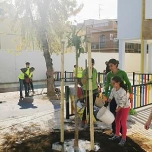 Educación ambiental. Luces de Barrio 2017: CEIP Vélez de Guevara