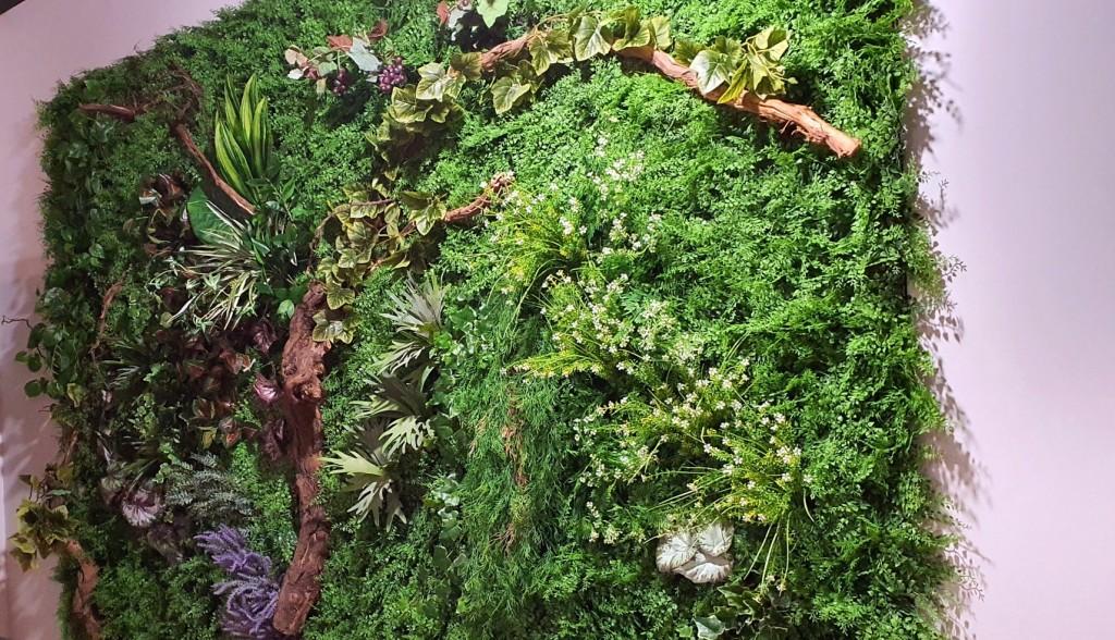 Jardín vertical artificial diseñado por Tamara García de Azul Jardines