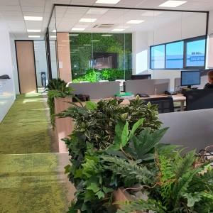 Jardín vertical artificial de Azul Jardines para oficina